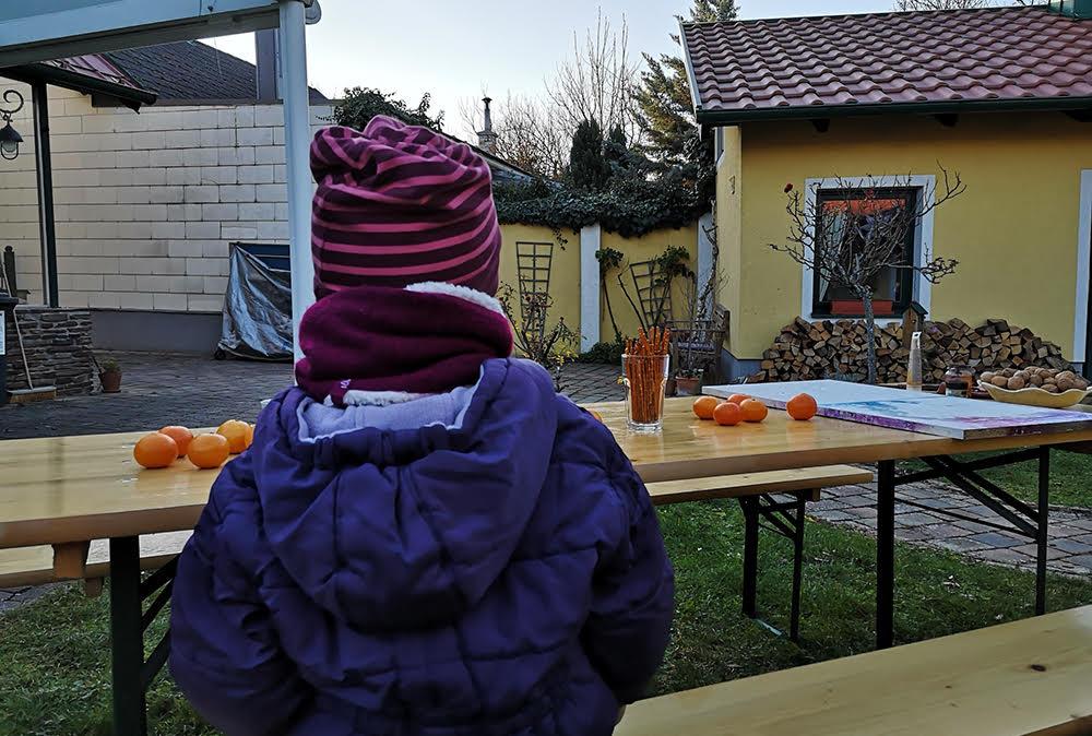 Vorbereitungen für den Kurs Adventskranz - Binden